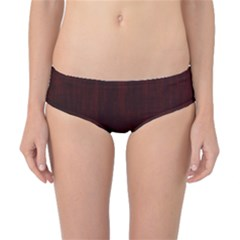 Grunge Brown Abstract Texture Classic Bikini Bottoms