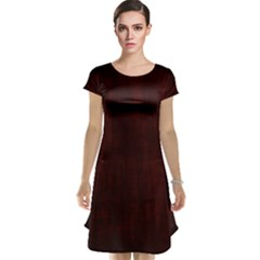 Grunge Brown Abstract Texture Cap Sleeve Nightdress