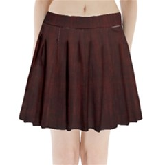 Grunge Brown Abstract Texture Pleated Mini Skirt