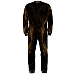 Beads Fractal Abstract Pattern Onepiece Jumpsuit (men)