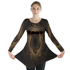 Beads Fractal Abstract Pattern Long Sleeve Tunic