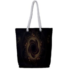 Beads Fractal Abstract Pattern Full Print Rope Handle Bag (small)