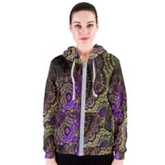 Abstract Fractal Art Design Women s Zipper Hoodie