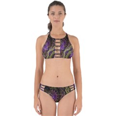 Abstract Fractal Art Design Perfectly Cut Out Bikini Set
