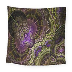 Abstract Fractal Art Design Square Tapestry (large)