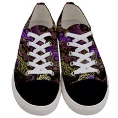 Abstract Fractal Art Design Women s Low Top Canvas Sneakers