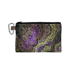 Abstract Fractal Art Design Canvas Cosmetic Bag (small)