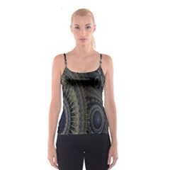 Fractal Spikes Gears Abstract Spaghetti Strap Top