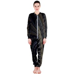 Fractal Spikes Gears Abstract Onepiece Jumpsuit (ladies)
