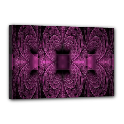 Fractal Magenta Pattern Geometry Canvas 18  X 12