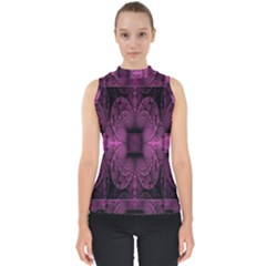 Fractal Magenta Pattern Geometry Shell Top
