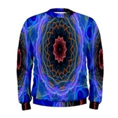 Cosmic Flower Kaleidoscope Art Men s Sweatshirt