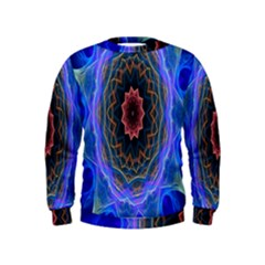 Cosmic Flower Kaleidoscope Art Kids  Sweatshirt