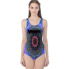 Cosmic Flower Kaleidoscope Art One Piece Swimsuit