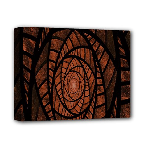Fractal Red Brown Glass Fantasy Deluxe Canvas 14  X 11