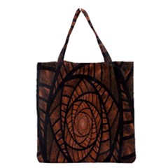 Fractal Red Brown Glass Fantasy Grocery Tote Bag