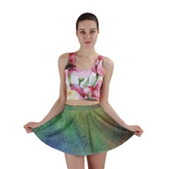 Frosted Glass Background Psychedelic Mini Skirt