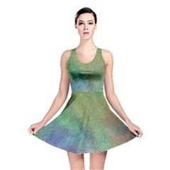 Frosted Glass Background Psychedelic Reversible Skater Dress
