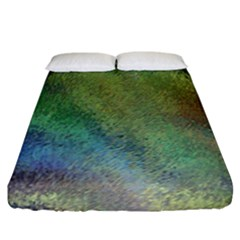 Frosted Glass Background Psychedelic Fitted Sheet (king Size)