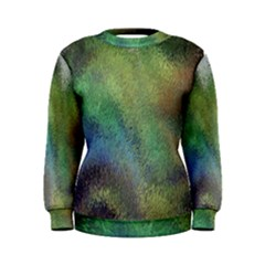 Frosted Glass Background Psychedelic Women s Sweatshirt