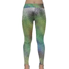 Frosted Glass Background Psychedelic Classic Yoga Leggings