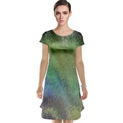 Frosted Glass Background Psychedelic Cap Sleeve Nightdress