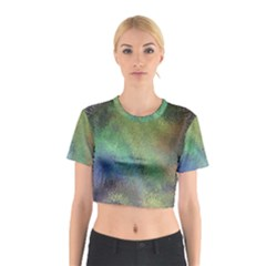 Frosted Glass Background Psychedelic Cotton Crop Top