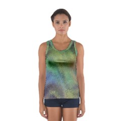 Frosted Glass Background Psychedelic Sport Tank Top