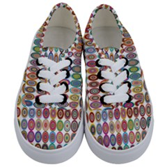 Decorative Ornamental Concentric Kids  Classic Low Top Sneakers