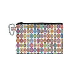 Decorative Ornamental Concentric Canvas Cosmetic Bag (small)