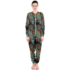 Pattern Background Fish Wallpaper Onepiece Jumpsuit (ladies)