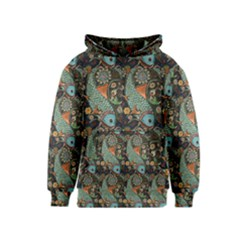 Pattern Background Fish Wallpaper Kids  Pullover Hoodie