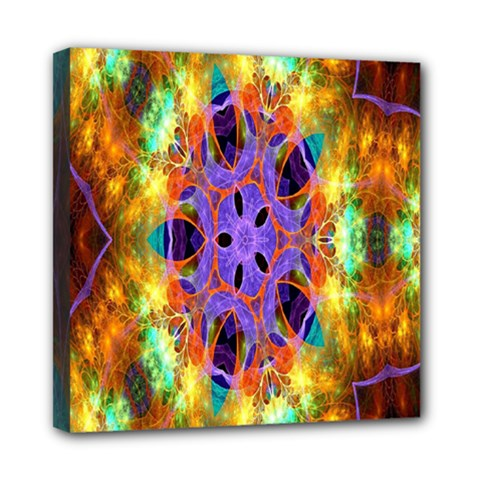 Kaleidoscope Pattern Ornament Mini Canvas 8  X 8