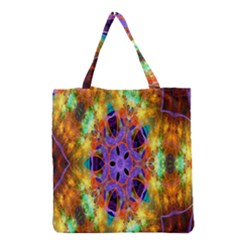 Kaleidoscope Pattern Ornament Grocery Tote Bag