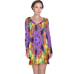 Kaleidoscope Pattern Ornament Long Sleeve Nightdress