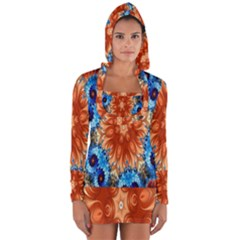 Alchemy Kaleidoscope Pattern Long Sleeve Hooded T Shirt