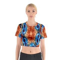 Alchemy Kaleidoscope Pattern Cotton Crop Top