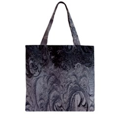 Abstract Art Decoration Design Zipper Grocery Tote Bag