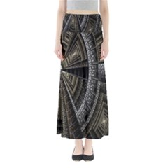 Fractal Circle Circular Geometry Full Length Maxi Skirt