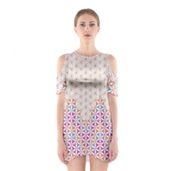 Flower Of Life Pattern 1 Shoulder Cutout One Piece