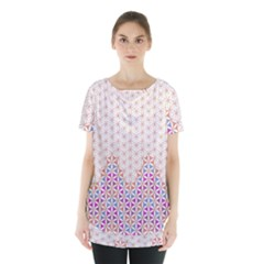 Flower Of Life Pattern 1 Skirt Hem Sports Top