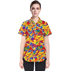 Homouflage Gay Stealth Camouflage Women s Short Sleeve Shirt