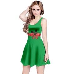 Green Christmas Gift Reversible Sleeveless Dress