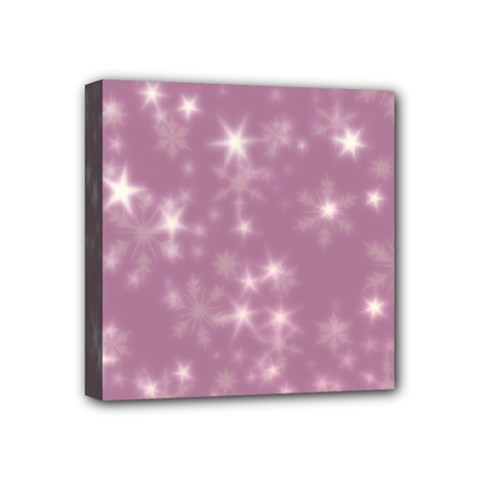 Blurry Stars Lilac Mini Canvas 4  X 4