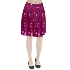 Blurry Stars Pink Pleated Skirt