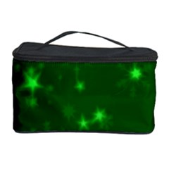 Blurry Stars Green Cosmetic Storage Case