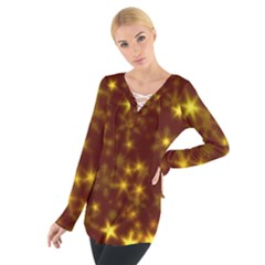 Blurry Stars Golden Tie Up Tee