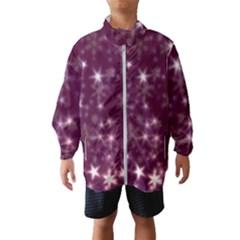 Blurry Stars Plum Wind Breaker (kids)