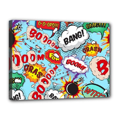 Comic Pattern Canvas 16  X 12