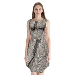 Tree Bark A Sleeveless Chiffon Dress
